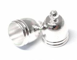 Silverfärgad kåpa 14 mm, 10 st