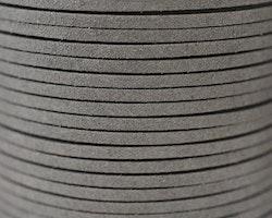 Mockaband 3 mm mörkgrå, 1 m
