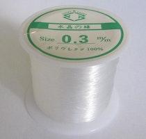Nylontråd/fiskelina 0.3 mm, 1 rulle