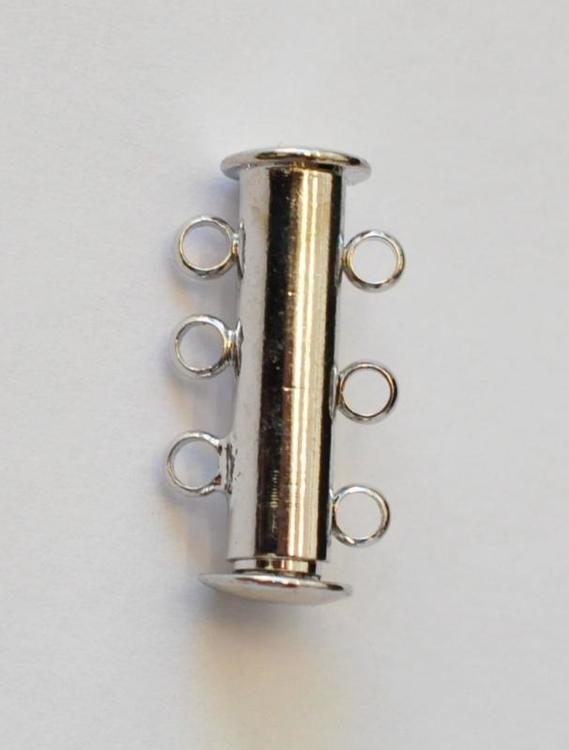 Antikfärgat lås 3-radig, 1 st