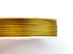 Wiretråd guld 0.38 mm, 1 rulle