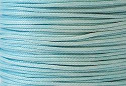 Vaxad bomullstråd 0.5 mm ljusblå, 10 m