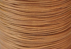 Vaxad bomullstråd 0.5 mm ljusbrun, 10 m