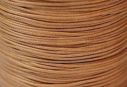 Vaxad bomullstråd 0.5 mm ljusbrun, 1 rulle