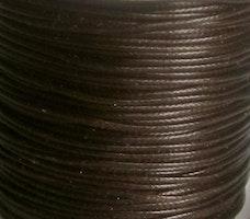 Vaxad bomullstråd 0.5 mm mörkbrun, 10 m