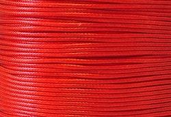 Vaxad bomullstråd 0.5 mm röd, 10 m