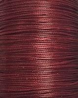 Vaxad bomullstråd 0.5 mm mörkröd, 10 m