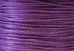 Vaxad bomullstråd 0.5 mm mörklila, 1 rulle