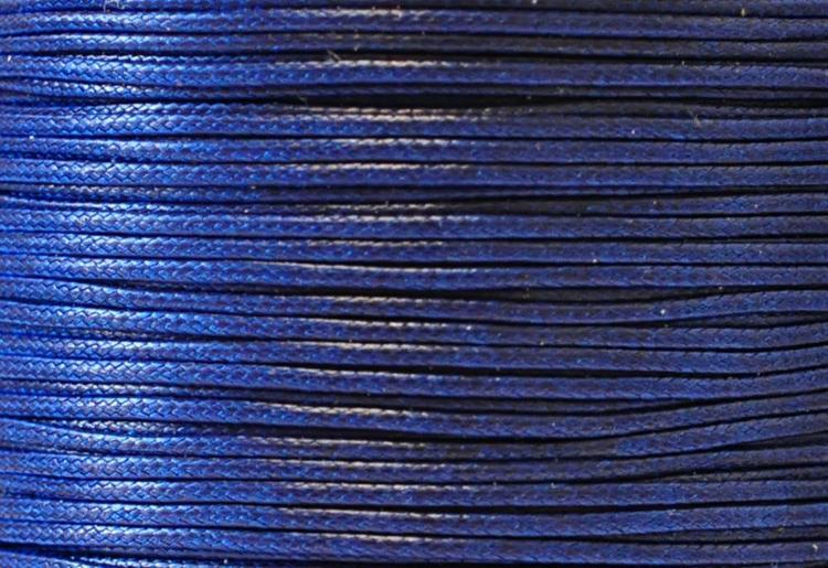 Vaxad bomullstråd 0.5 mm mörkblå, 1 rulle