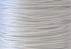 Vaxad bomullstråd 1 mm vitgrå,  10 m