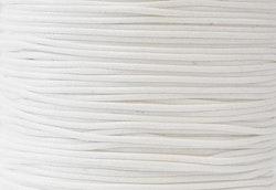 Vaxad bomullstråd 1 mm vit, 10 m