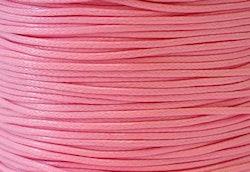 Vaxad bomullstråd 1 mm rosa, 1 rulle