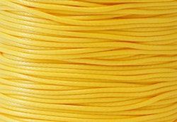 Vaxad bomullstråd 1 mm gul, 10 m