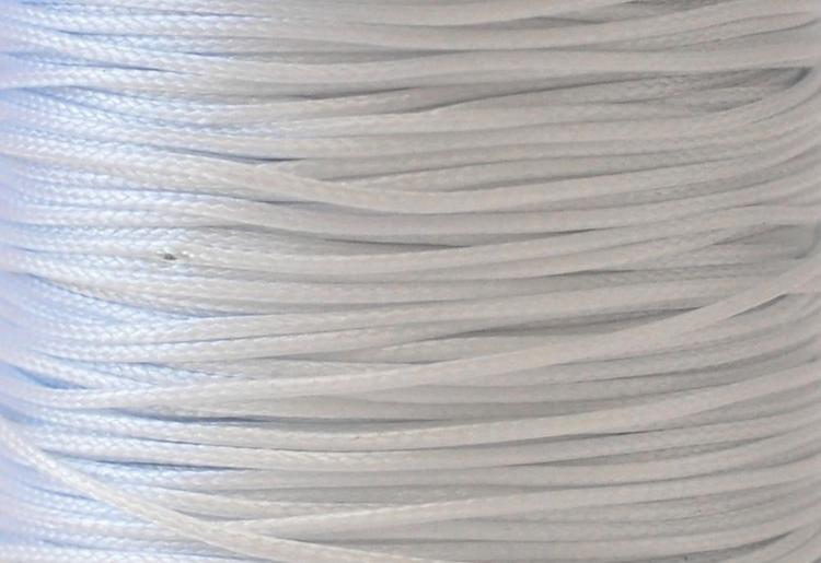 Vaxad bomullstråd 1 mm vitgrå, 1 rulle