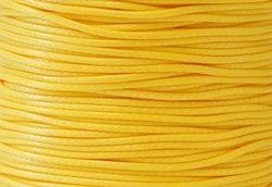 Vaxad bomullstråd 1 mm gul, 1 rulle