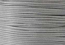 Vaxad bomullstråd 1 mm ljusgrå, 10 m