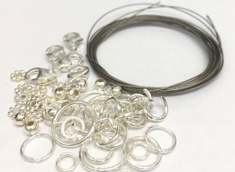 Startpaket, silverfärgad metall