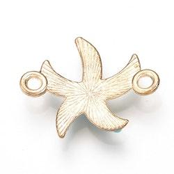Ljust guldfärgad connector sjöstjärna, 1 st