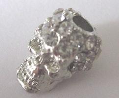 Antikfärgad döskalle strass mini, 1 st