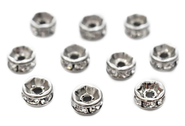 Antikfärgade strassrondeller 6 mm, 10 st