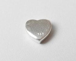 Sterling silver pärla hjärta, 1 st