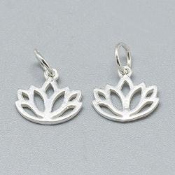 Sterling silver tunn berlock lotus, 1 st