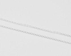 Sterling silver ärtlänk 1.7 mm med lås, 45 cm, 1 st