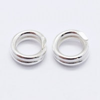 Sterling silver dubbelring 6 mm, 1 st