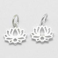 Sterling silver berlock lotus, 1 st