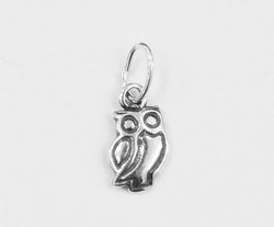 Sterling silver berlock uggla, 1 st