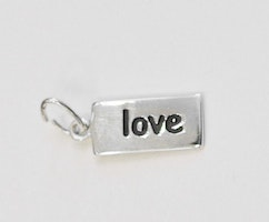 Sterling silver tag love, 1 st