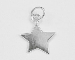 Sterling silver berlock stjärna, 1 st