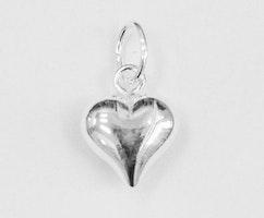 Sterling silver berlock hjärta, 1 st
