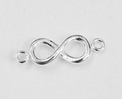 Sterling silver connector infinity, 1 st
