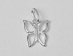 Sterling silver berlock fjäril, 1 st