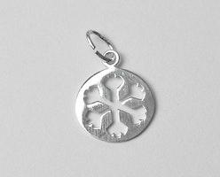 Sterling silver berlock snöflinga, 1 st