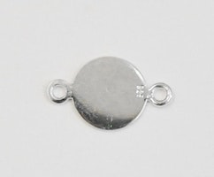 Sterling silver connector tag, 1 st
