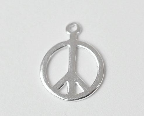 Sterling silver berlock peace, 1 st