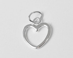 Sterling silver berlock siluetthjärta, 1 st