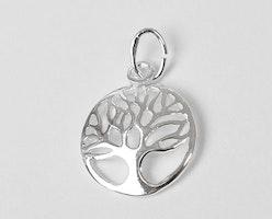 Sterling silver berlock livets träd böjd, 1 st