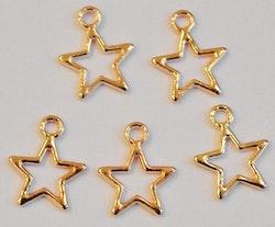 Rosefärgade berlocker stjärnor, 10 st