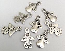 Antikfärgade berlocker Made for an angel, 10 st