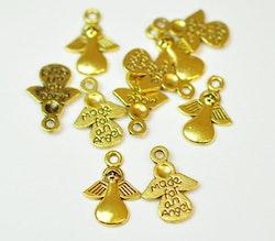 Antikt guldfärgade berlocker Made for an angel, 10 st