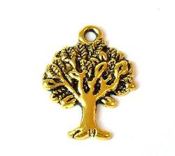 Antikt guldfärgad berlock Livets träd, 10 st
