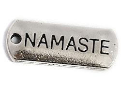 Antikfärgade berlocker Namaste, 10 st