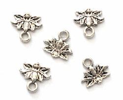 Antikfärgade berlocker små lotusblommor, 10 st