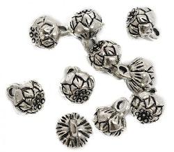 Antikfärgad lotuspärla med ögla, 1 st