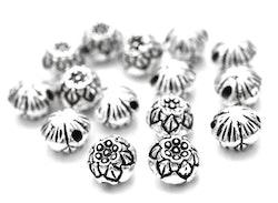 Antikfärgad lotuspärla 8 mm, 1 st