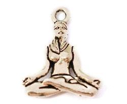 Antikfärgad berlock yoga, 10 st