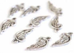 Antikfärgade berlocker minivingar, 10 st